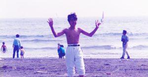 友達と海に遊びに行きました♪